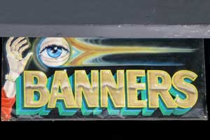 Eye-Catching Banner, Brushed and Airbrushed